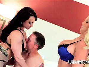 Alura Jenson milf three-way pound with Brandi May