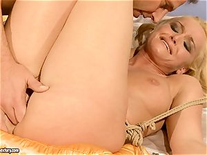red-hot Kathia Nobili gets her labia crammed with penis