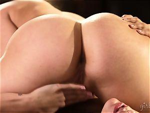 twat licking hotties Mia Malkova and AJ Applegate