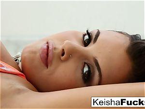 phat titted Keisha Grey teases and fucks
