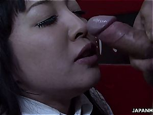 crazy japanese super-naughty at college for manmeat to fellate