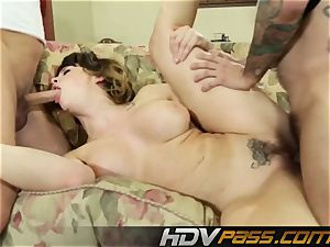 HDVPass Chanel Preston Gets double Teamed