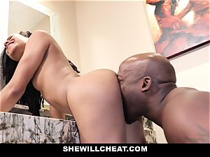 SheWillCheat - hotwife wife pounds bbc in douche