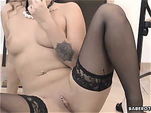 plaything insertion with Daphne Klyde looks so hot