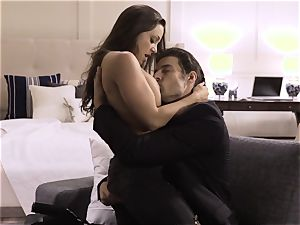 Spoiled pt five Abigail Mac spunked on after steamy bang
