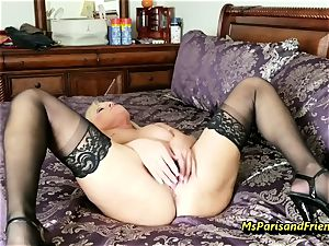 cram Up the Strippers wide open twat with Ms Paris Rose