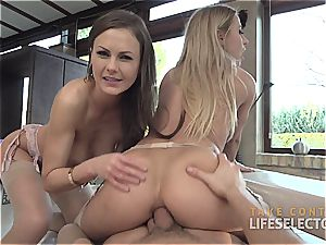 Tina Kay and Nikky Thorne - Feral ass-fuck three way
