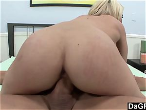 phat jugged Madison Ivy rides a meaty pipe