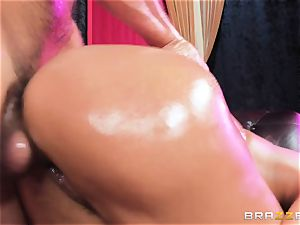 Oiley Mercedes Carrera boinked thick time by giant cock