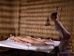 rubdown rooms Amirah Adara and Nathaly Cherie sumptuous rubdown
