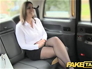 faux cab office damsel in stockings asslicking anal fucky-fucky