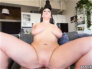 big-boobed stunner Angela milky pov