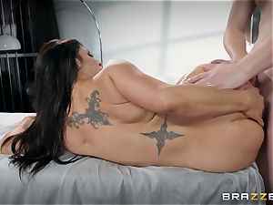 Raven Hart arched over and drilled