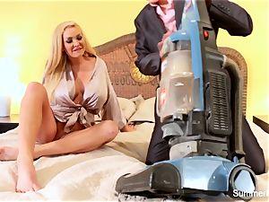 blonde housewife Summer screws handsome salesman Lily