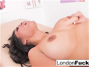 Nurse London and Jessica's lezzie have fun