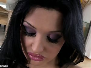 wonderful hoe Aletta Ocean gets molten alone in the couch playing with her gash