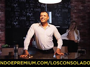 LOS CONSOLADORES - Hungarian blonde gets fucked point of view