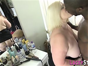 Lacey Starr banged hard by a ebony guy