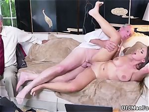 fledgling damsel masturbating Ivy amazes with her phat bra-stuffers and ass
