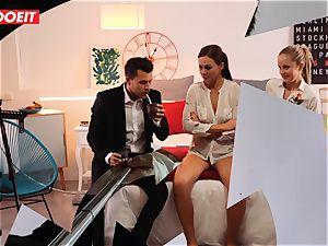 LETSDOEIT insane Artist ravages torrid Spanish couple