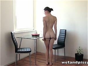 Meet this beautiful urinating biotch Xenia