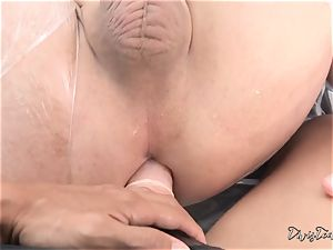 Dana mistreats her fellow with a yam-sized fake penis