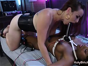 cock-squeezing Eboby in wondrous bdsm porn