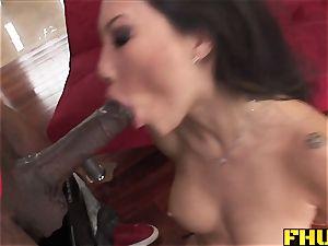 Fhuta hefty black sausage splits cock-squeezing asian