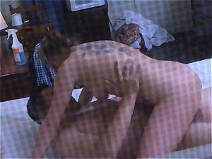 Brianna dark-skinned caught on spy webcam as she smashes