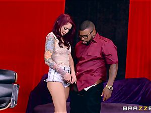 Monique Alexander getting her sweet cooch romped by a dark-hued salami