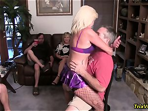 Stripper at the birthday soiree with Ms Paris Rose