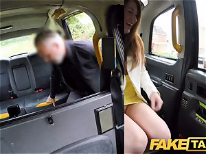 faux taxi insatiable sandy-haired hotty in filthy drill