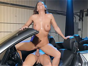 Abigail Mac drooling on a thick manmeat