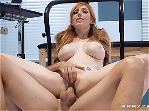 Redheaded hottie Lauren Phillips is on fire