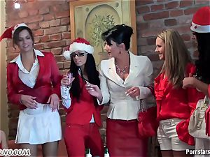buzzed office female sapphic party with peeing