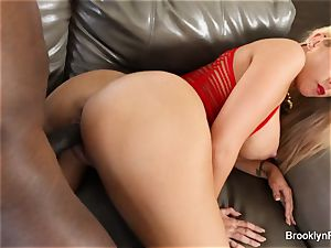 Brooklyn takes a bbc on the bed