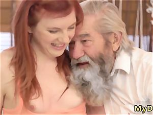 huge senior s tonguing unexpected experience with an old gentleman