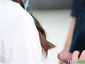 Jay Taylor banged her teacher in the classroom