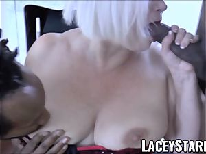 LACEYSTARR - bbc dual crew works on horny granny