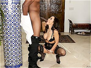 fancy Lisa Ann rides a massive and youthful bbc