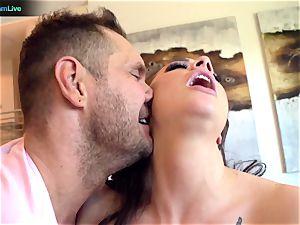 Exotic sweetie Chanel Preston getting a uber-cute internal cumshot