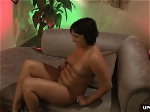 chesty porno babes getting sapphic with face sitting moves
