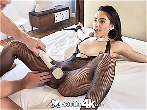 Exotic4k mexican Adrian Hush strapped up drill and internal cumshot