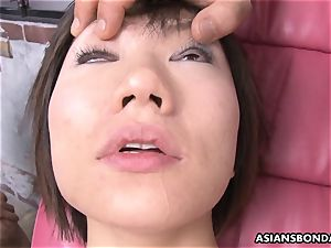 ravaging her with a fuckfest machine and subs go bananas