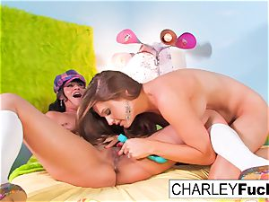 Charley chase and Allison Moore have fun With Each Other