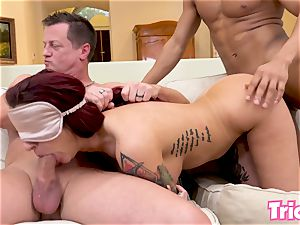 Trickery Tana Lea gets tricked into her first group sex