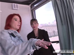 torrid Ava Courcelles and Julie Share lovemaking playthings in public