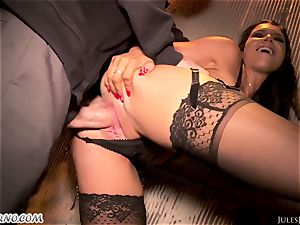 Romi Rain - outstanding super-fucking-hot fledgling pornography in the street