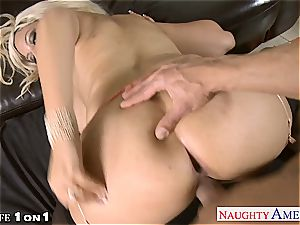 ash-blonde housewife Bridgette B. gets pounded in pov