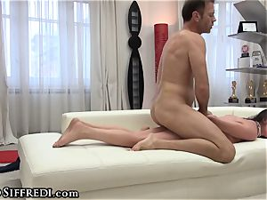 Francesca messy chats in Italian As Rocco ravages arse